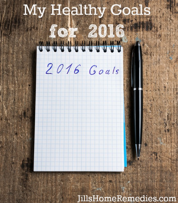 Notebook with pen and goals of 2016