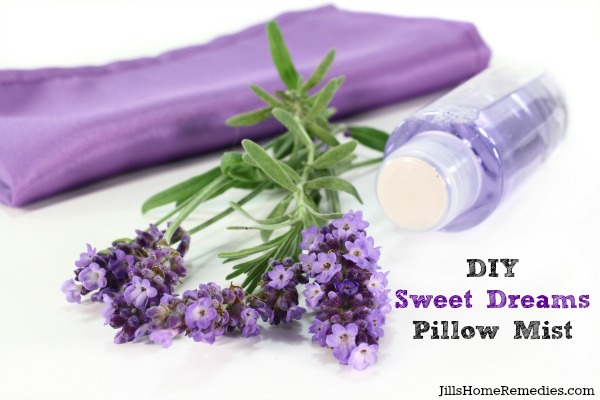 DIY Sweet Dreams Pillow Mist   Jill's Home Remedies   Have a relaxing night's sleep with this herbal pillow mist!