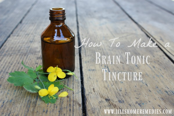 How To Make A Brain Tonic Tincture | Jill's Home Remedies | Do you have trouble remembering things? Improve your memory naturally with this brain tonic tincture!