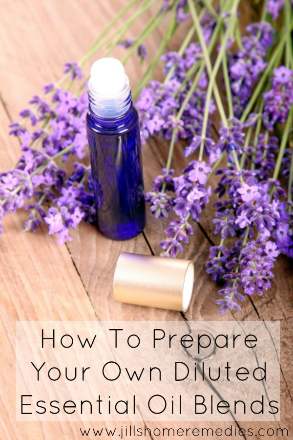 How To Prepare Your Own Diluted Essential Oil Blends | Jill's Home Remedies | Preparing your own diluted essential oil blends makes life just a little bit easier. Learn how easy it is to have diluted essential oils on hand!