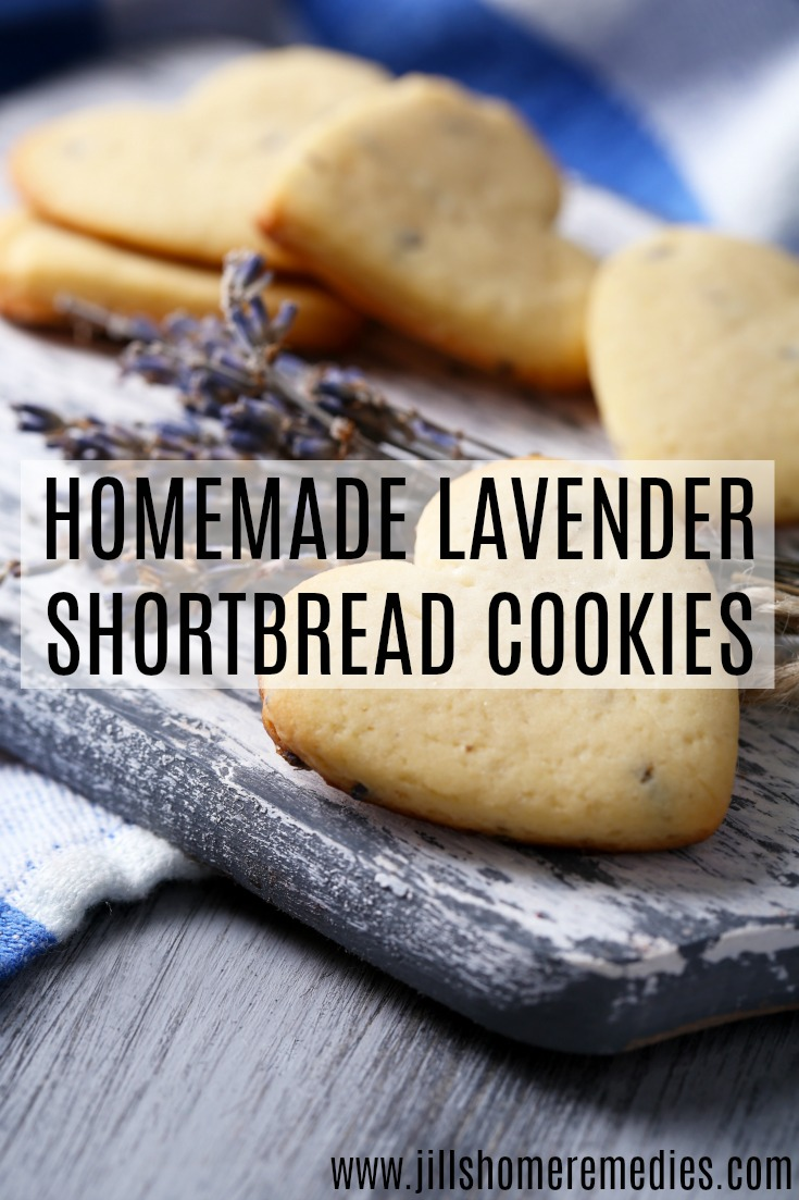 Homemade Lavender Shortbread Cookies