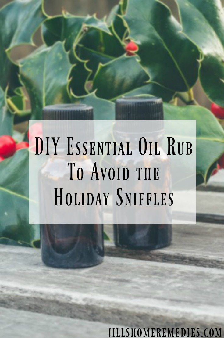 Looking for a way to stay healthy this holiday season? Try this DIY essential oil rub to keep those holiday sniffles at bay!