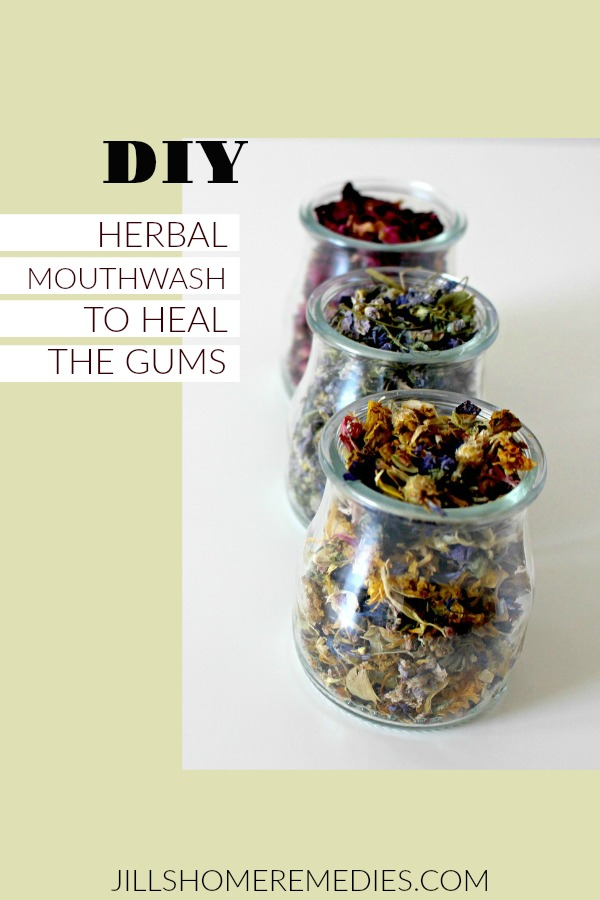 Learn how to heal the gums after dental work or injury with this herbal mouthwash!