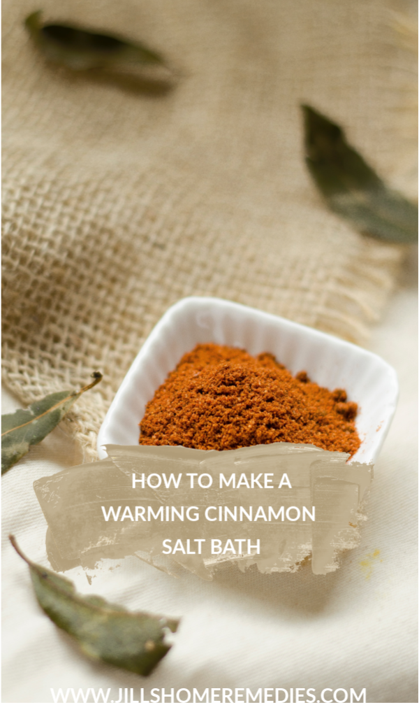 Cinnamon is a warming herb that makes a great aid for aches, colds, and congestion. Here's how to make a warming cinnamon salt bath!