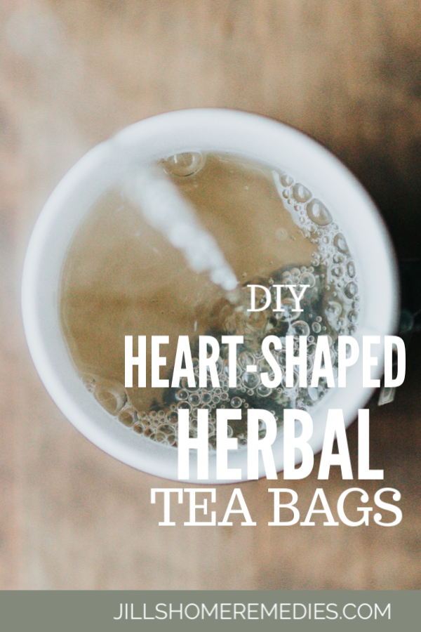 These DIY heart-shaped herbal tea bags are a simple and fun way to make tea time a little more special. Your kids will love it!