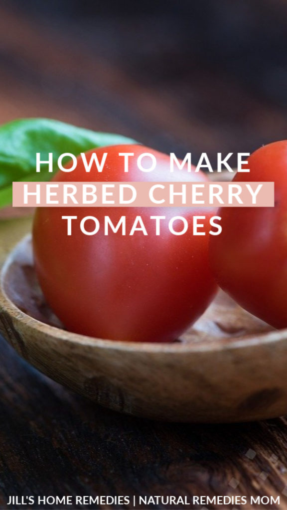 Adding a fresh herb or two and healthy raw vinegar adds a unique twist to tomatoes!