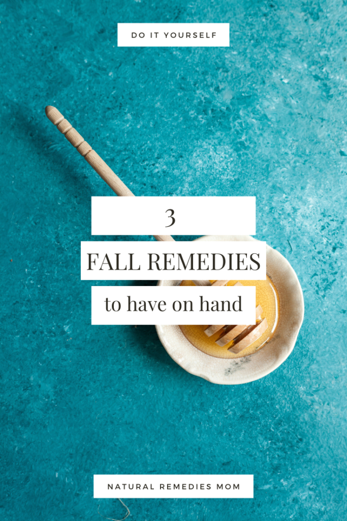 Here are 3 favorite DIY home remedy recipes that I try to have on hand for the fall and winter months!