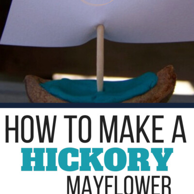 This Mayflower ship is the perfect nature craft to make while sharing the Pilgrim story with your children!